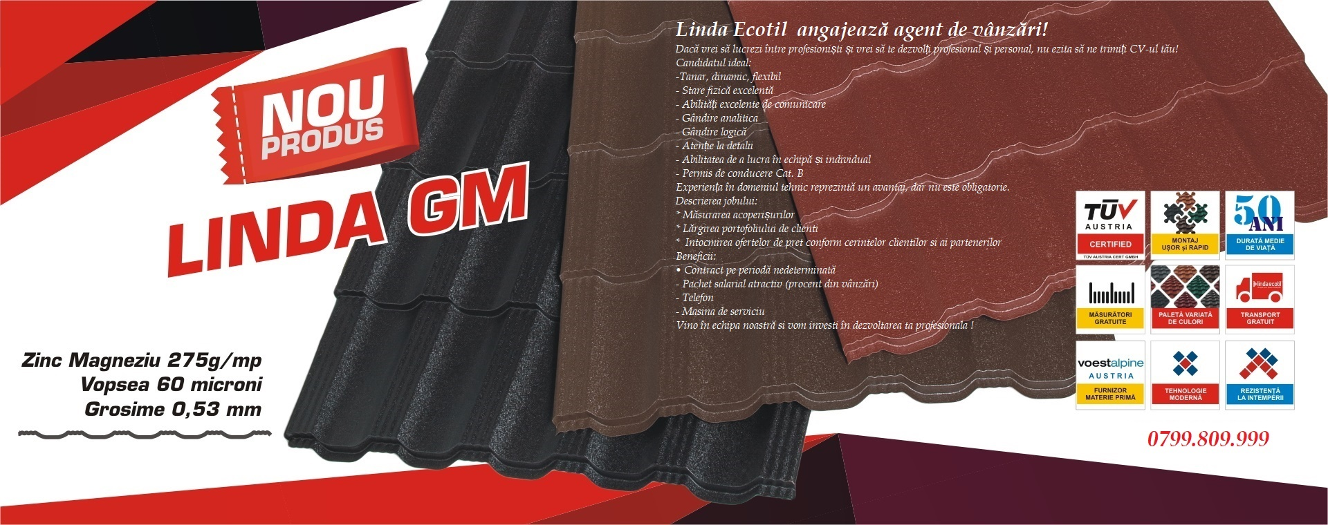 producator tabla tip tigla metalica